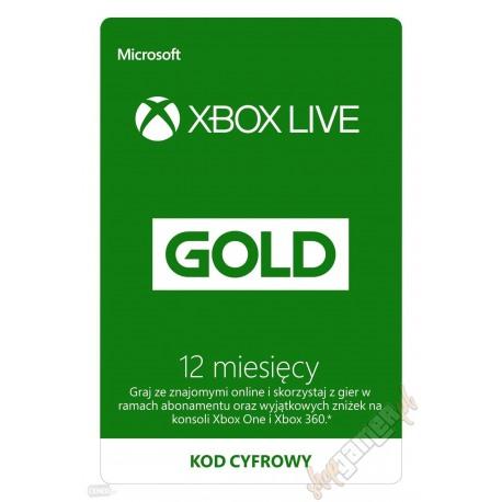 Subskrypcja Xbox Live GOLD 12 MIESIĘCY (KOD AUTOMAT 24/7)