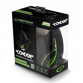 Słuchawki Esperanza CONDOR Czarno-zielone (nowe)