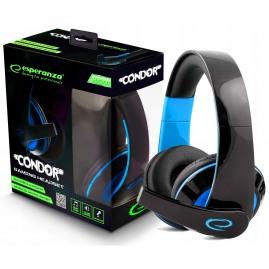 Słuchawki Esperanza EGH300B Condor niebiesko-czarne (nowe)