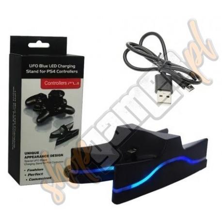 Ładowarka PS4 Dualshock 4 Podwójna UFO LED (nowa)