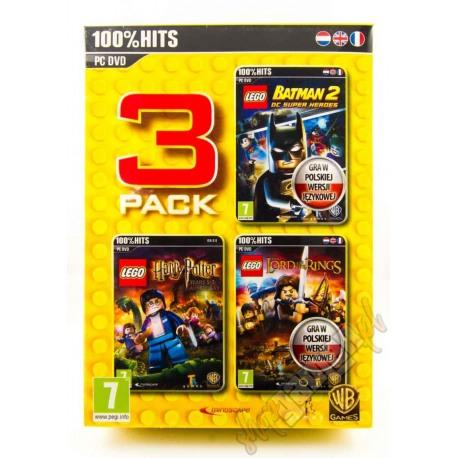 3 PACK LEGO BATMAN 2 + HARRY POTTER LATA 5-7 + WŁADCA PIERŚCIENI (nowa)