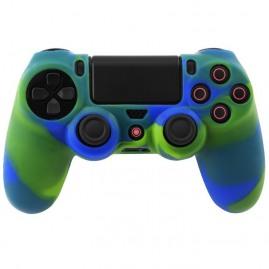 Etui silikonowe na pada PS4 niebiesko-zielone (nowy)