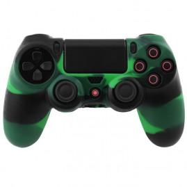 Etui silikonowe na pada PS4 zielono-czarne (nowy)