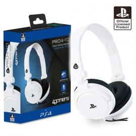 Słuchawki 4GAMERS PRO4-10 PS4 Białe (nowe)