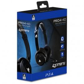 Słuchawki 4GAMERS PRO4-40 PS4 czarne (nowe)