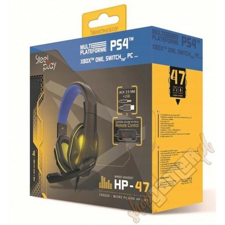 Słuchawki PS5 PS4 XONE SWITCH PC HP-47 STELL PLAY (NOWE)