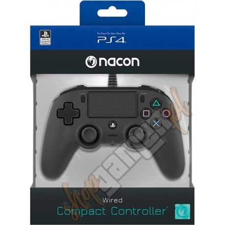Gamepad Nacon Compact Controller PS4 Black (nowy)