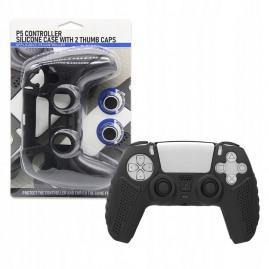 Etui silikonowe + 2 nakładki Playstation 5 czarne (nowe)