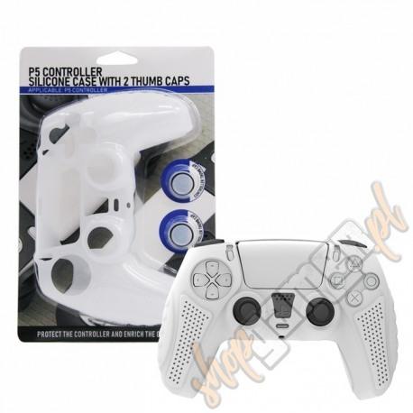 Etui silikonowe + 2 nakładki Playstation 5 białe (nowe)